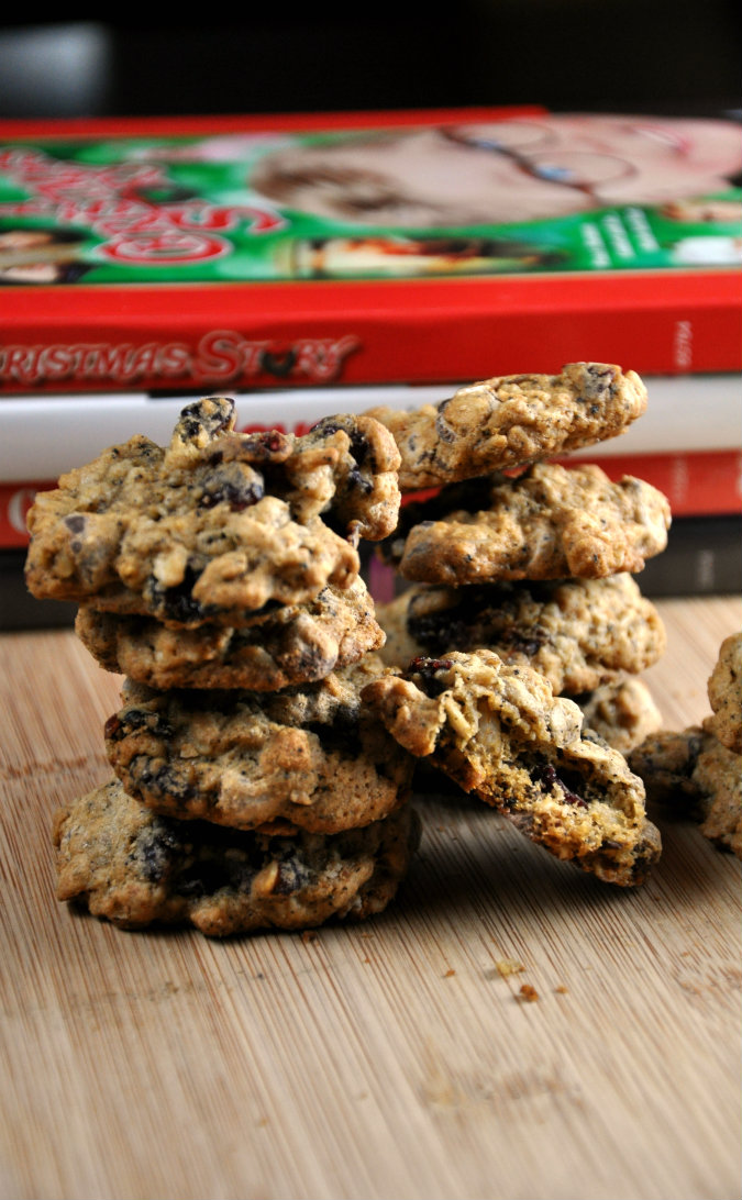 Healthy Dark Chocolate Cranberry Oatmeal Cookies | All Four Burners