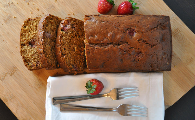 Brown butter strawberry-vanilla bread