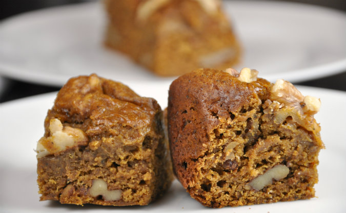 Slow Cooker Pumpkin Bread with Walnuts
