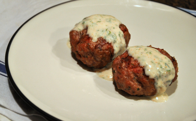Lamb Sausage with Mint, Feta, and Garlic and Dill Garlic Yogurt Sauce ...