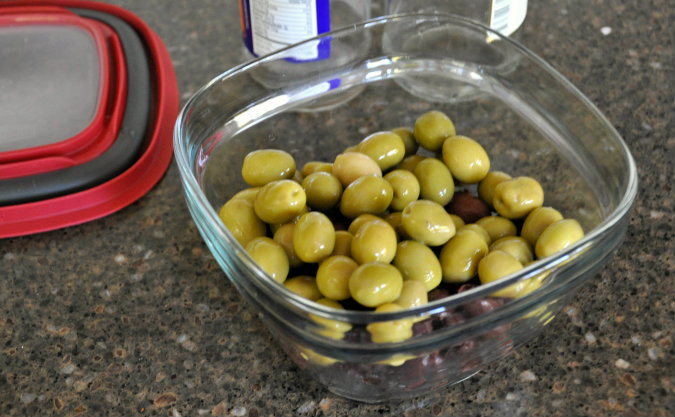 Lemon Marinated Olives with Rosemary, Coriander, and Fennel