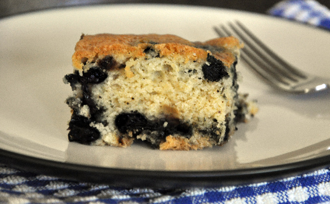 Vanilla cake with blueberries
